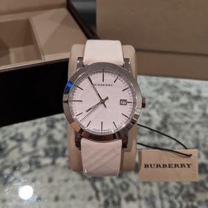 White Burberry Analog Watch